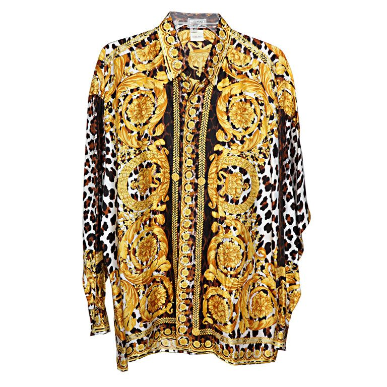 Vintage versace shirt for Versace style shirt mens