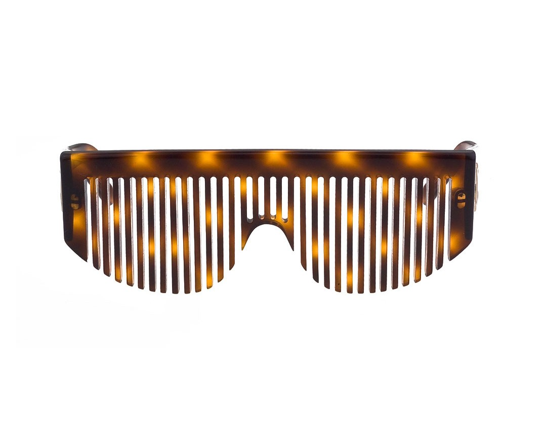 18 VINTAGE CHANEL COMB SUNGLASSES