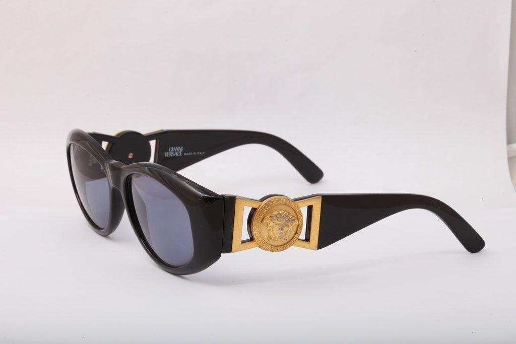 vintage gianni versace sunglasses mod 424 col 852 bk. Black Bedroom Furniture Sets. Home Design Ideas