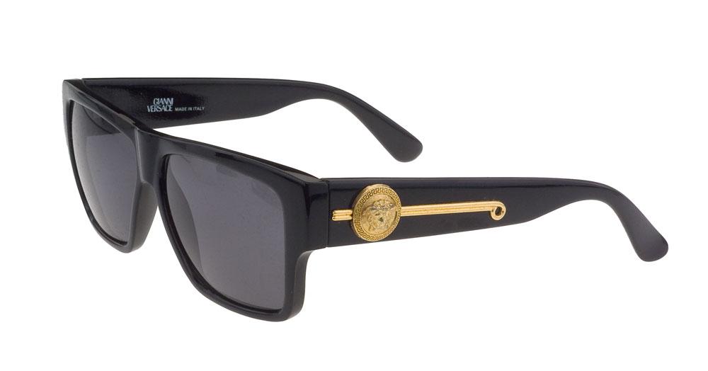 Black Versace Sunglasses  vintage gianni versace sunglasses mod 372 dm black
