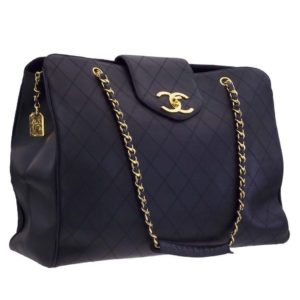 VINTAGE CHANEL QUILTED OVERNIGHTER BAG