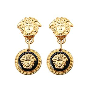"VINTAGE GIANNI VERSACE MEDUSA EARRINGS AS SEEN IN ""THE WOLF OF WALL STREET"""