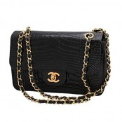 VINTAGE CHANEL CROCODILE DOUBLE FLAP 2.55 BAG – SOLD