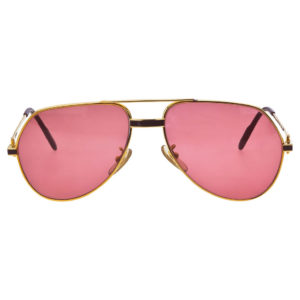VINTAGE CARTIER RED LAQUE DE CHINE SUNGLASSES
