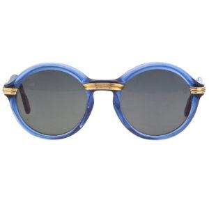 VINTAGE CARTIER CABRIOLET BLUE SUNGLASSES