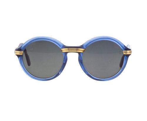 923ab1d7ad VINTAGE CARTIER CABRIOLET BLUE SUNGLASSES