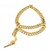 VERY RARE VINTAGE CHANEL GUN MOTIF NECKLACE
