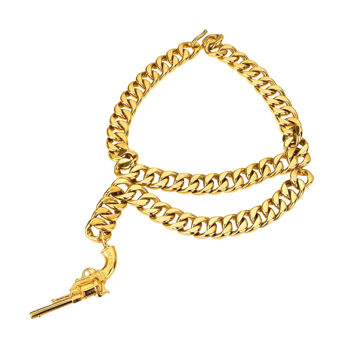 130 Vintage Chanel gun necklace resized