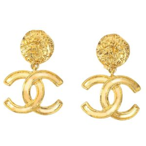 VINTAGE CHANEL CC DANGLING EARRINGS