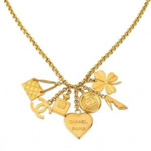 VINTAGE CHANEL 7 LUCKY CHARM NECKLACE