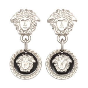 VINTAGE GIANNI VERSACE MEDUSA EARRINGS SILVER