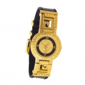 VINTAGE VERSACE MEDUSA WATCH WITH CROC EMBOSSED BELT – SOLD