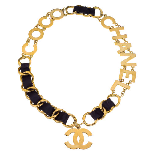 Vintage Chanel Massive Quot Coco Chanel Quot Belt Necklace