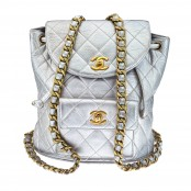 VINTAGE CHANEL SILVER METALLIC BACKPACK – SOLD
