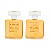 "VINTAGE CHANEL ""COCO CHANEL"" PERFUME BOTTLE EARRINGS"