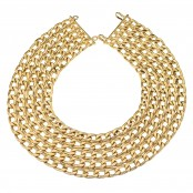 VINTAGE CHANEL MASSIVE 5 ROW CHAIN NECKLACE