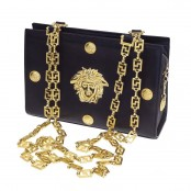 VINTAGE GIANNI VERSACE COUTURE CHAIN BAG WITH MEDUSA