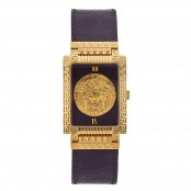 VINTAGE GIANNI VERSACE MEDUSA WATCH WITH SQUARE FACE