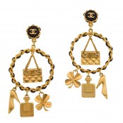 VINTAGE CHANEL MASSIVE ICONIC MOTIF EARRINGS – SOLD