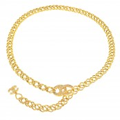 VINTAGE CHANEL CC CHAIN BELT/NECKLACE WITH RHINESTONES