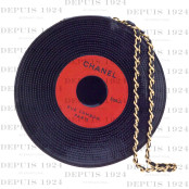 CHANEL COLLECTIBLE RECORD MOTIF CLUTCH BAG
