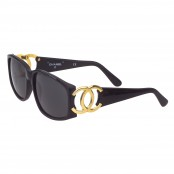 VINTAGE CHANEL CC LOGO BLACK/GOLD SUNGLASSES