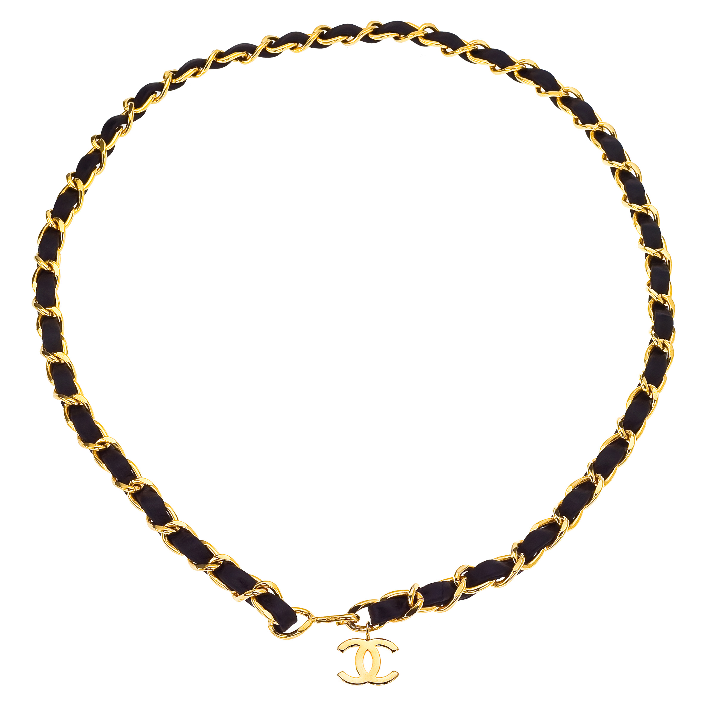 CHANEL ICONIC CHAIN BELT-NECKLACE WITH CC 1