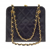 VINTAGE CHANEL QUILTED DEMI BAG WITH CHAIN HANDLES