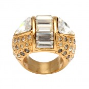 VINTAGE GIANNI VERSACE MASSIVE RING WITH RHINESTONES