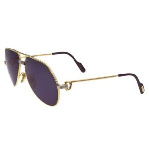 VINTAGE CARTIER GOLD VENDOME SANTOS SUNGLASSES MEDIUM