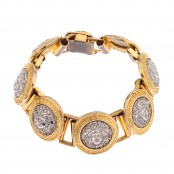 VINTAGE GIANNI VERSACE SILVER AND GOLD MEDUSA BRACELET – SOLD