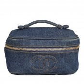 VINTAGE CHANEL DENIM VANITY CASE BAG