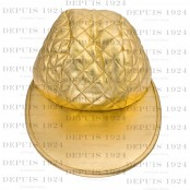 VINTAGE CHANEL GOLD QUILTED LEATHER CAP – SOLD