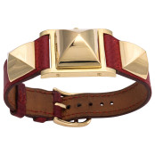 VINTAGE HERMES MEDOR WATCH RED/GOLD