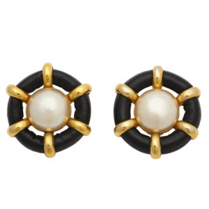 VINTAGE CHANEL MARINE MOTIF EARRINGS