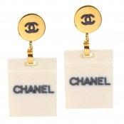 VINTAGE CHANEL SHOPPING BAG MOTIF EARRINGS
