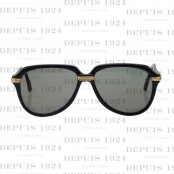 VINTAGE CARTIER BLACK VITESSE SUNGLASSES