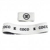 "VINTAGE CHANEL ""COCO"" SET OF HEADBAND AND WRISTBAND"