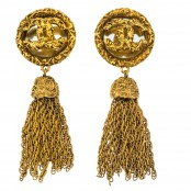 VINTAGE CHANEL MIRROR AND TASSEL EARRINGS