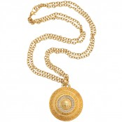VINTAGE GIANNI VERSACE LARGE MEDALLION PENDANT NECKLACE WITH MEDUSA