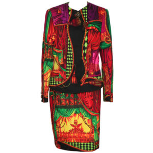 VERY RARE VINTAGE GIANNI VERSACE COUTURE THEATER PRINT SUITS