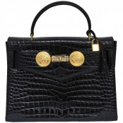 VINTAGE GIANNI VERSACE COUTURE CROCODILE BAG WITH MEDUSAS