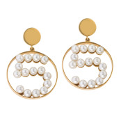"VINTAGE CHANEL ""NO.5″ PEARL EARRINGS CIRCA 1987"