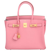 "HERMES ROSE CONFETTI PINK ""SPECIAL ORDER"" CHEVRE BIRKIN WITH HORSESHOE STAMP – PRICE UPON REQUEST"