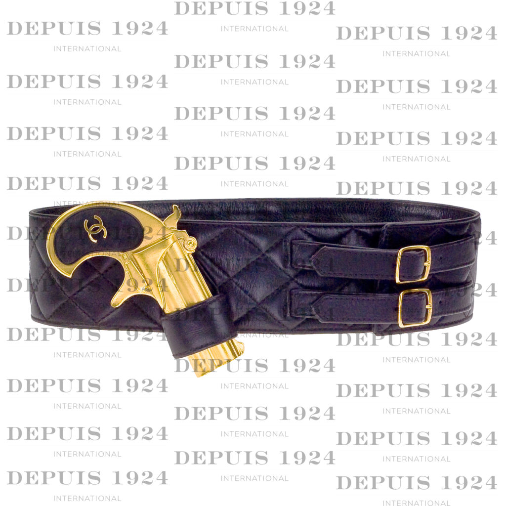 RARE VINTAGE CHANEL GUN MOTIF LEATHER BELT – PRICE UPON REQUEST