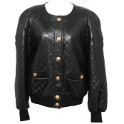 VINTAGE CHANEL AMAZING QUILTED BOMBER JACKET CIRCA 1980