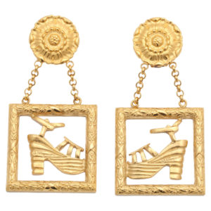 RARE VINTAGE SALVATORE FERRAGAMO EARRINGS WITH SHOE MOTIFS