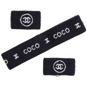 "CHANEL ""COCO"" SET OF HEADBAND AND WRISTBANDS"