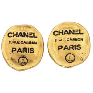 VINTAGE CHANEL RUE CAMBON CLIP-ON EARRINGS