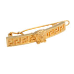 VINTAGE GIANNI VERSACE HAIR CLIP WITH MEDUSA AND GREEK KEY